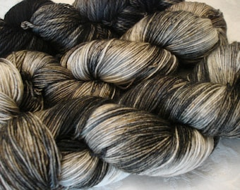 READY TO SHIP, Variegated, Hand Dyed, Color - Black Tonal**