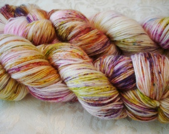 READY To SHIP, Sprinkles, Hand Dyed Yarn, Colorway - Just For Me
