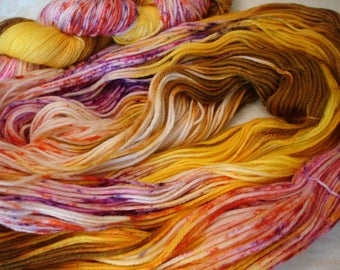 READY TO SHIP, Dk, Variegated, Sprinkled, Hand Dyed, Color - Dazed**#