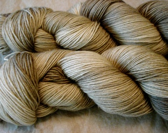 READY To SHIP, Various Bases, Hand Dyed Yarn, Color - Tonal Taupe#