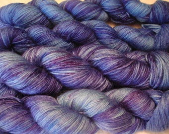 READY TO SHIP, Variegated, Sprinkled Hand Dyed Yarn, Color - Floating**