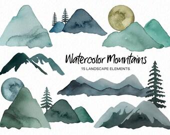 Mountainscapes Clip Art