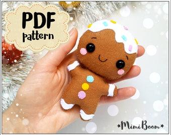 Christmas Pattern Felt Rudolph Ornament Felt Pattern Reindeer Etsy