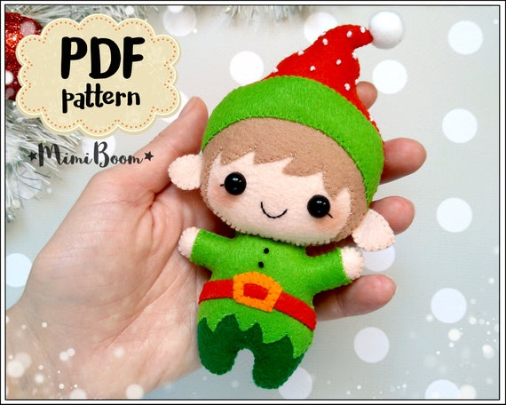 Christmas elf felt pattern Santa Helper pattern Christmas   Etsy