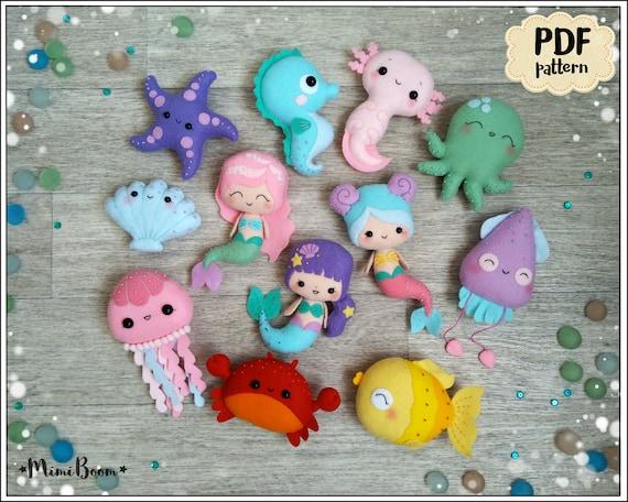 Filz Muster Meerjungfrau niedlich Ornament Puppe Nähen Muster | Etsy