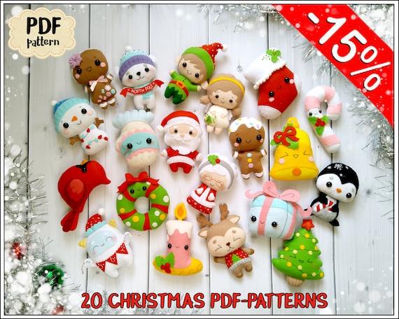 Weihnachten Ornamente Muster 20 Weihnachten Muster fühlte | Etsy