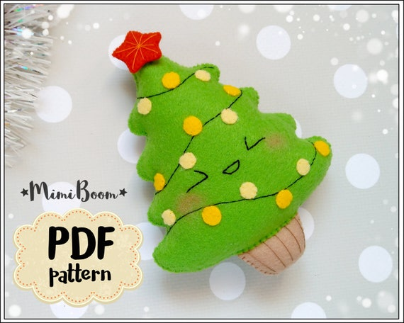 Christmas Tree Felt Pattern Christmas Patterns Felt Christmas Etsy