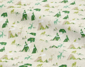Wildlife Woodland fabric By Bruxamagica - Cotton/ Polyester/ Jersey/ Canvas/ Digital Printed