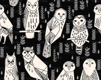 Owl Fabric by andrea_lauren