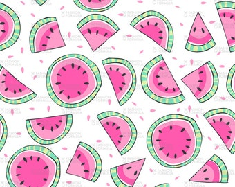 Watermelons Fabric by Laura_May_Designs
