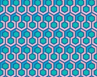 Geometric Hexagon Fabric by mariafaithgarcia