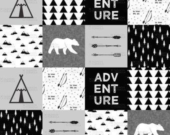 Adventure Wholecloth Fabric by littlearrowdesigncompany - Cotton/ Polyester/ Jersey/ Canvas/ Digital Printed