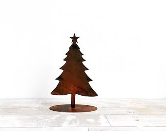Metal christmas tree etsy