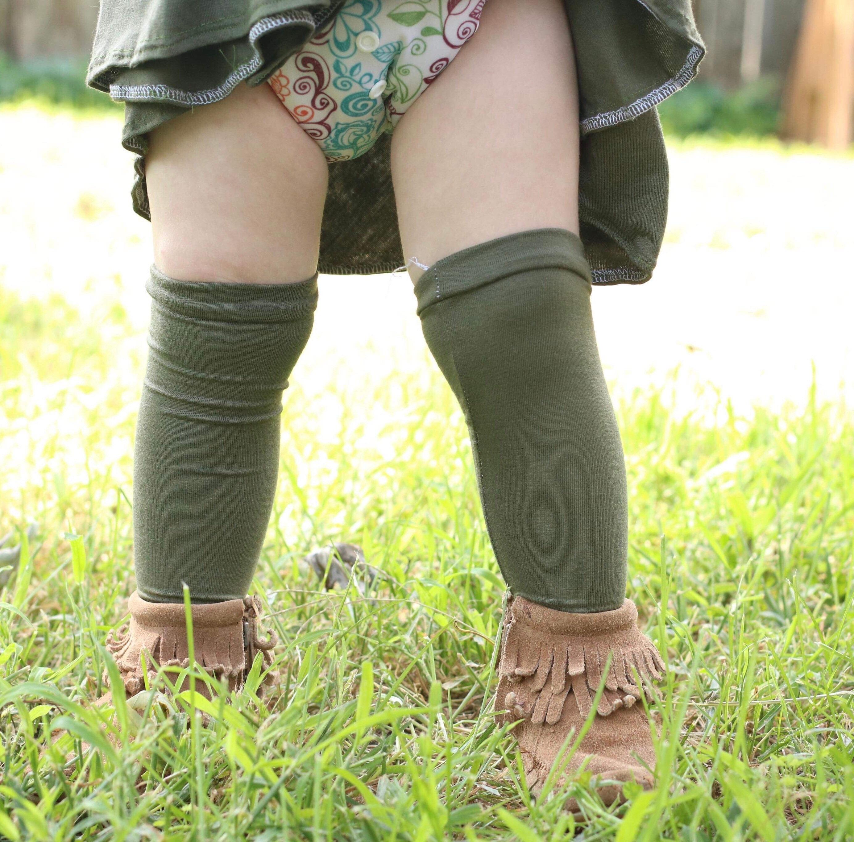 81d5611d7 Olive Knee High Socks Toddler Knee High Socks Olive Socks