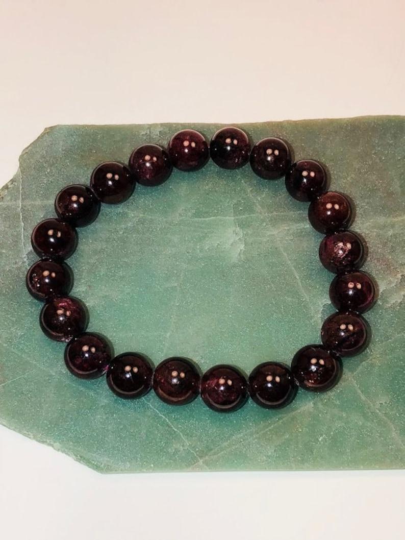 Root Chakra Bracelet Tiny Garnet Beads Bracelet Garnet Gemstone Bracelet