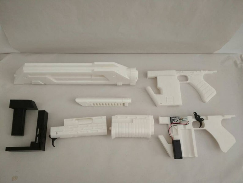 Best KIT M41A Aliens Pulse Rifle Lifesize Forjadict3d Replica 3d Printed FanArt