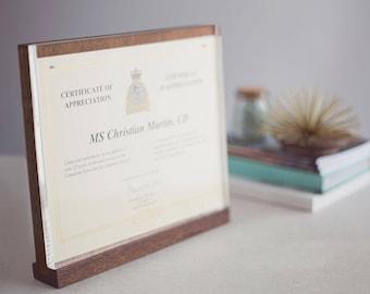 modern diploma frame etsy