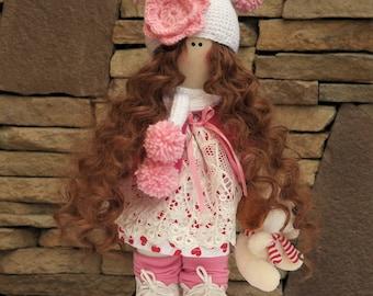 Handmade doll Tilda doll Interior doll Fabric doll Cloth doll Collectable doll Rag doll Textile Doll Baby Doll Decorative Doll