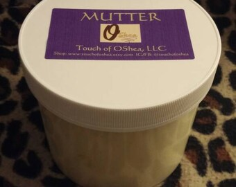 OShea MUTTER - UNSCENTED Body Moisturizer - Unrefined African Shea Butter with Tea Tree Oil and Neem Oil