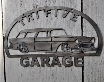 Tri-Five Chevy Spotters Guide Metal Sign