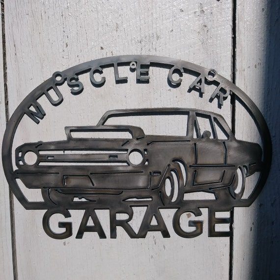Muscle Car Metal Garage Sign