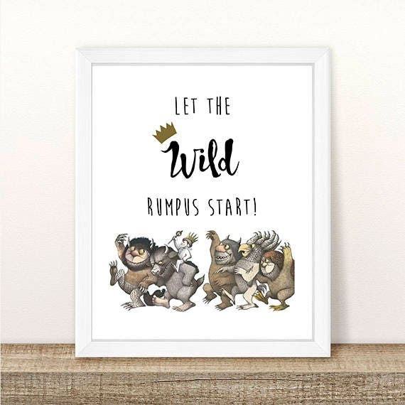photograph relating to Let the Wild Rumpus Start Printable referred to as PRINTABLE The place the Wild Components Are, Permit The Wild Rumpus Start out, Little one Shower, Wild Elements, Wild A single Birthday, Wild Rumpus Instantaneous Down load