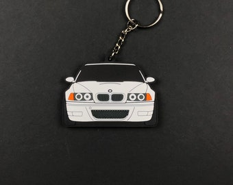 Handmade Leather Keychain Keyring for BMW E46 3-Series