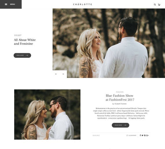 Responsive Wordpress Theme Wedding Wordpress Theme Etsy