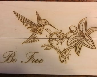 Be Free with Flower and Hummingbird