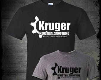 Kruger Industrial Smoothing Seinfeld T-Shirt, George Costanza Kramer Kramerica Festivus Funny 90s TV Show Human Fund Tee