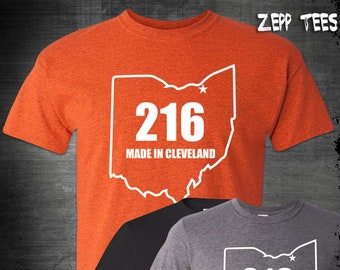53328e6a210b 216 Made In Cleveland Ohio Shirt Believeland The Land Cavs Indians Browns  Sports Rally State Game Day Cavaliers Whatever It Takes Pride