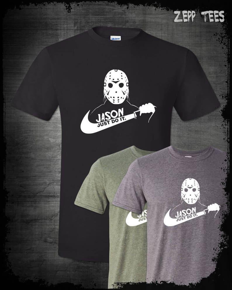 062e062078e Jason Voorhees Just Do It T-Shirt Nike Parody Funny Halloween