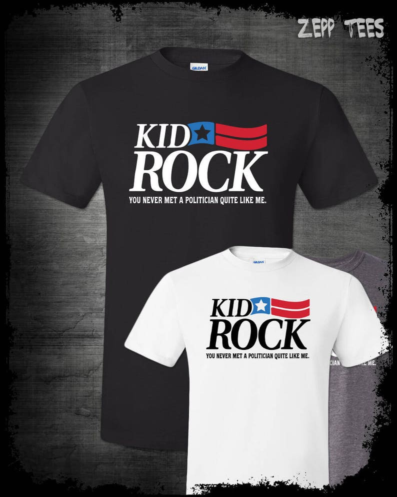 120887920 Kid Rock For Michigan Senate 2018 Shirt Based Political | Etsy