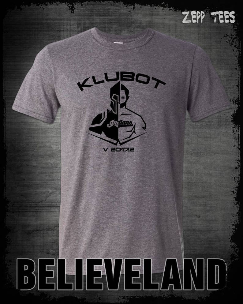 a59a0be4c544 Klubot Corey Kluber T-Shirt Cleveland Indians Pitcher Cy Young   Etsy