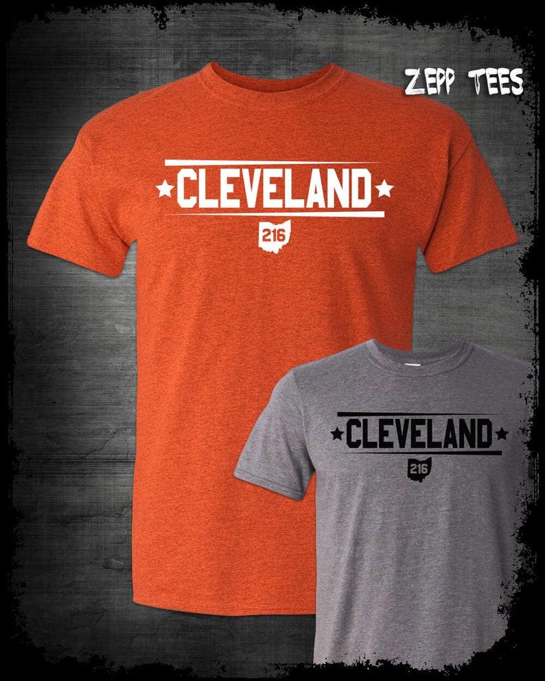 9d885b8576da Cleveland Ohio City T-Shirt 216 Pride Believeland The Land   Etsy