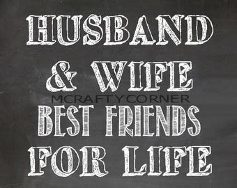 Husband and Wife Best Friends for Life