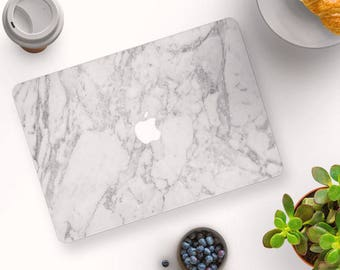 Classic White Marble MacBook Case, MacBook Hard Case, MacBook Air Protection, MacBook Pro 2016 Touch Bar Case, MacBook Pro Retina Hard Case