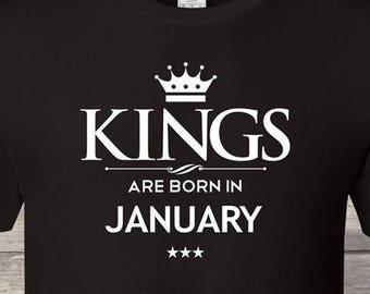 77501331 King Are Born In January Birthday tshirt Birthday king Men, king Birthday  shirt, king born in January, mens birthday gift birthday ,