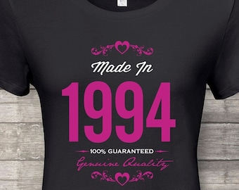 Made In 1994 Guaranteed 24th Birthday Gifts For Women Gift Tshirt Party
