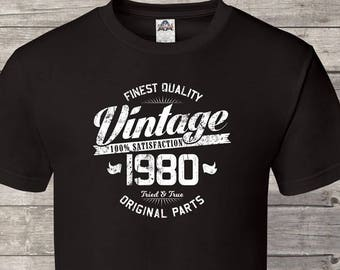 Finest Quality Vintage Since 1980 39th Birthday Gifts For Men Gift Tshirt Party