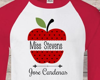 Personalized teacher shirt ( SCHOOL or GRAD and  teacher name ) teacher shirt, back to school , First Grade, teacher shirts ,Teacher shirt