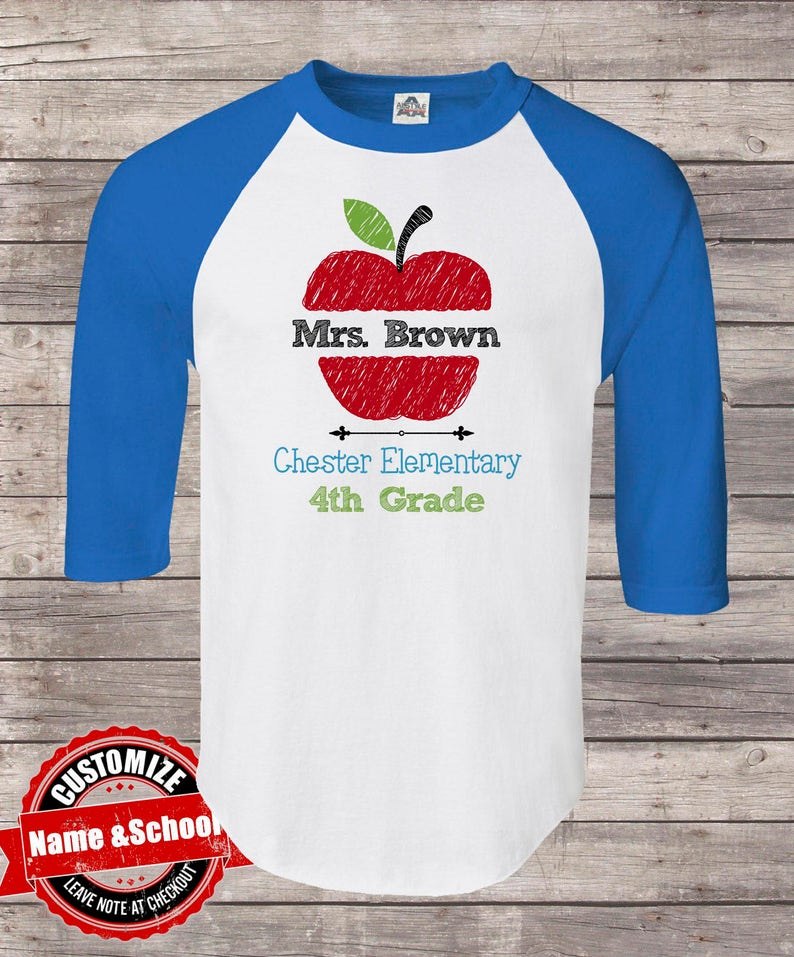 Personalized Teacher Shirt School Or Grad And Teacher Name Teacher Shirt Back To School First Grade Teacher Shirts Teacher Shirt