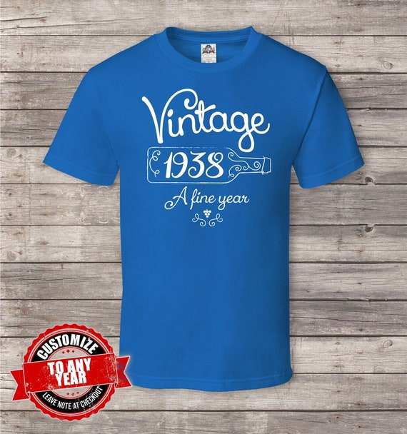 Vintage 1938 80th Birthday Gifts For Men Gift