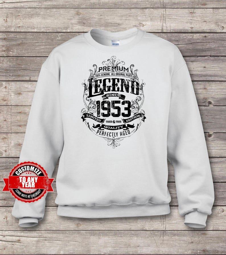 66th birthday gift 66th birthday gift for 66th 66th birthday gifts for men Premium Legend Since 1953 66th Birthday Sweatshirts