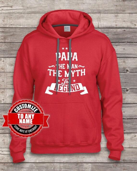 Papa The Man The Myth The Legend, hoodies, Papa Gift, Papa Birthday, Papa hoodies, Legend, Papa Gift Idea, Birthday Gift for Papa birthday , f15012