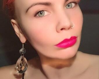 Diamanté Droplet Earrings