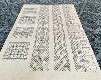 Bobbin Lace Patterns Etsy