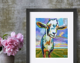 Goat Wall Art Etsy
