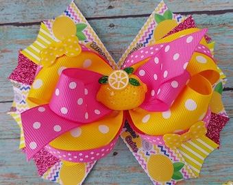 lemon hair bow, lemonade hair bow, lemon cutie hair bow. lemonade headband, lemon headband, lemon hair clip, lemonade hair clip, lemonade