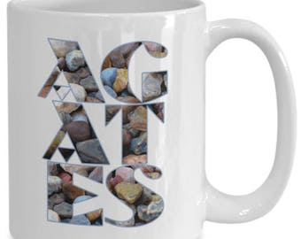 Agates Mug for Rockhounds and Agate Hunters